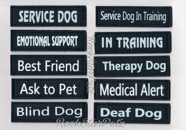 Reflective Attachable Removable Service Guard Dog Patches * In Training * ESA $5.99