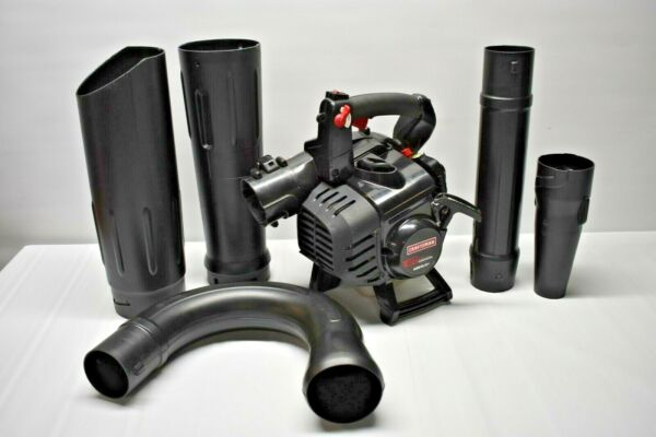 Craftsman 79177 Full Crank 27cc 2 Cycle Engine Gas Blower With Vacuum Kit