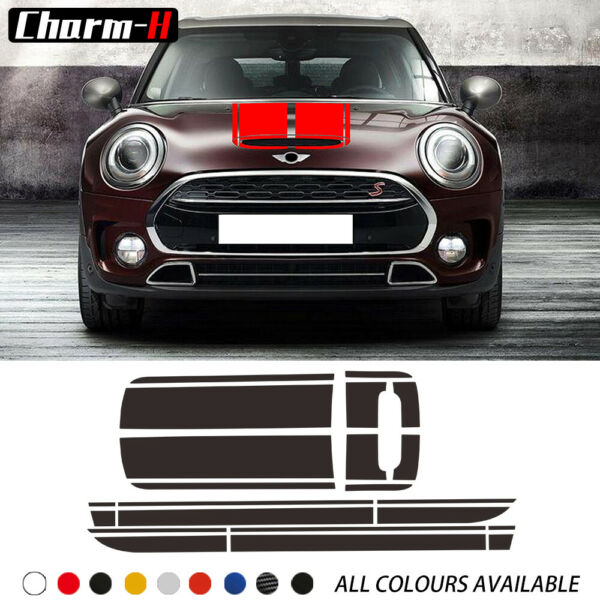Car Door Side Stripes Hood Cover Rear Body Decal For MINI Cooper Clubman F54 $24.87