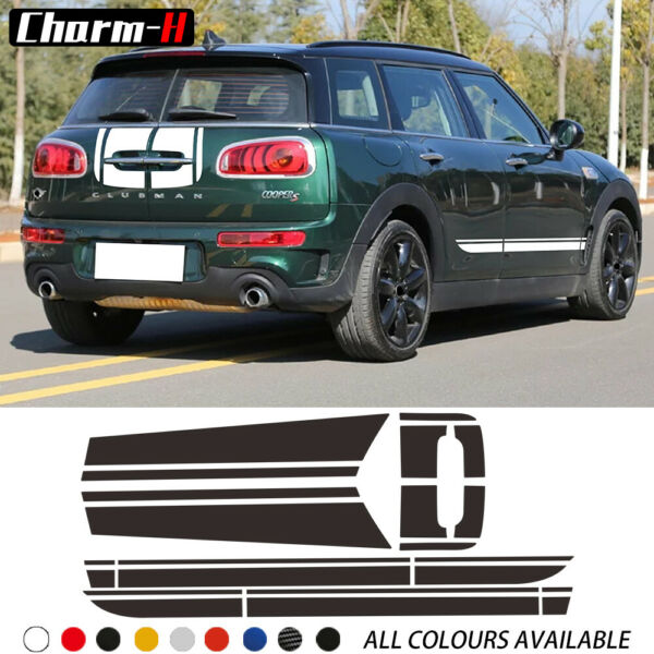 Car Door Side Stripes Hood Cover Rear Body Decal For MINI Cooper Clubman F54 $20.26