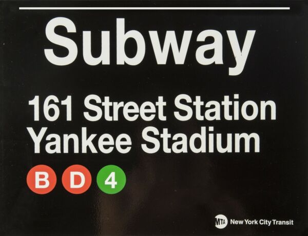 TIN SIGN quot; New York Subway Yankee Stadiumquot; Deco Garage Wall Decor $7.35