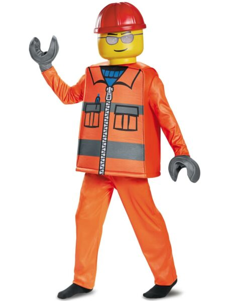Lego Construction Worker Deluxe Child Costume Large 10 12