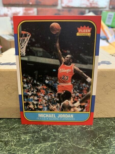 Reprint Michael Jordan 86 87 Fleer Basketball Rookie Card REPRINT Chicago Bulls