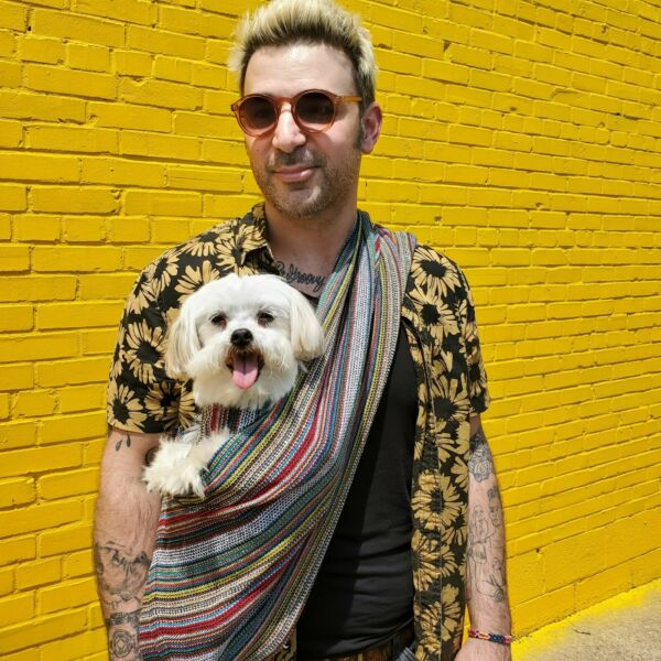 Dog and Cat Sling Pet Carrier Bohemian Multi Color by Walking Palm Pet $39.99