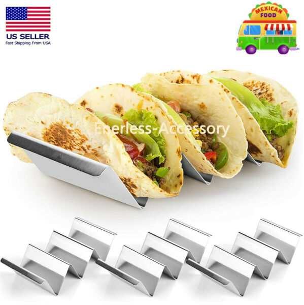 1 2 5 Pack Stainless Steel Taco Holder Stand Safe Rack Tray for Dishwasher Oven $13.99