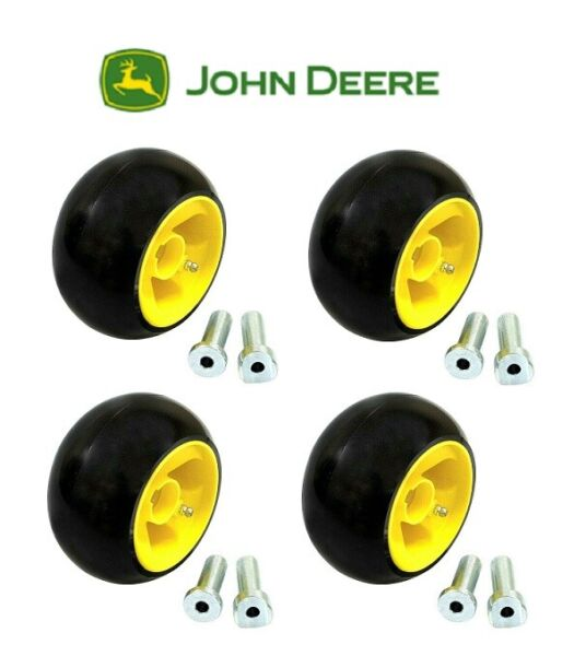 4 PK JOHN DEERE LAWN MOWER DECK WHEEL KITS AM125172 X GX LX LAWN TRACTORS 48 54