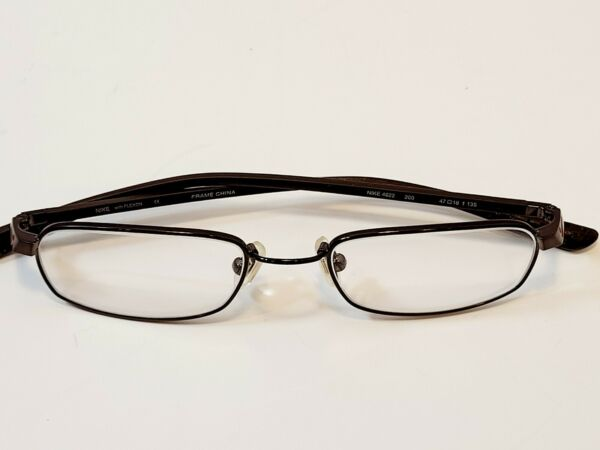 NIKE with FLEXON Eyeglasses Frame NIKE 4622 200 47 18 t 135 Bronze