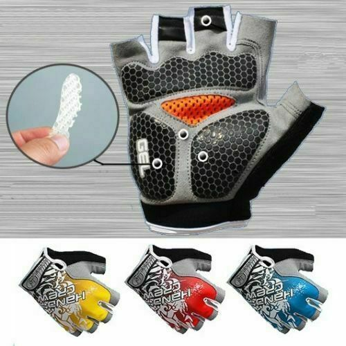 Road MTB Bicycle Cycling GEL Pad Short Half Finger Gloves Bike Riding Fingerless $7.99