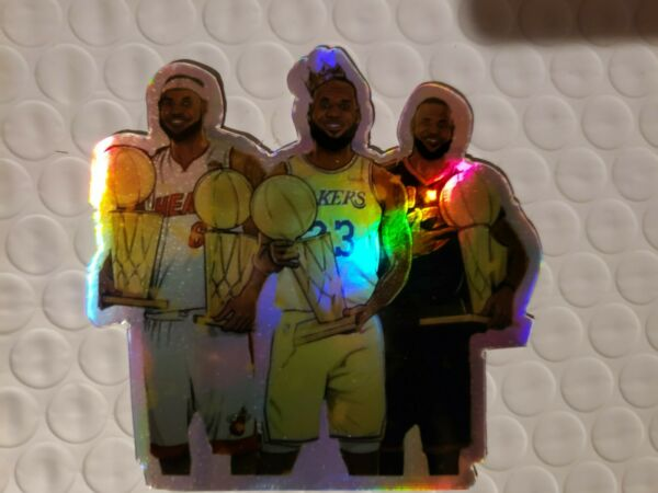 LeBron James high quality holographic Vinyl Decal sticker 3x3quot; Heat lakers 🔥🔥 $3.49