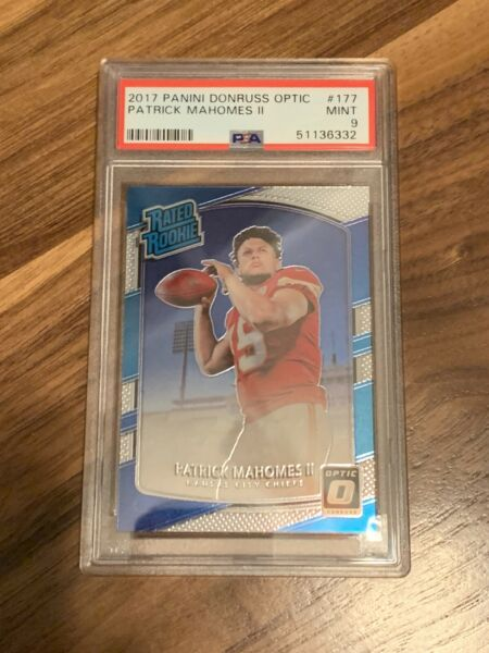 LIMITED QTY REPACK Patrick Mahomes Optic Rookie Card Graded PSA 9 🔥 READ
