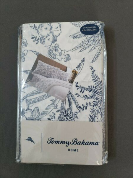 Tommy Bahama Home Pen And Ink Palm Standard Pillowcase Pair NIP $24.99