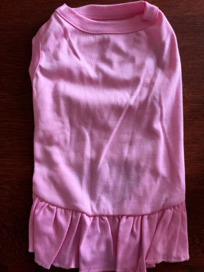 L PINK Blank T Shirt Dress Decorate Your Own NEW Average Dog Large DIY $5.95