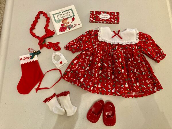 American Girl Bitty Baby Christmas Holiday Dress Set 1996 Pleasant Company