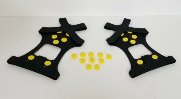 Ice Shoes Grippers Cleats for Shoes Ice Snow Grips Traction Cleats Large black $16.99