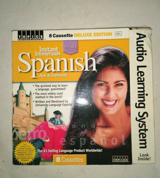Audio Learning System Instant Immersion Spanish 8 Cassette Deluxe Edition Used $12.99