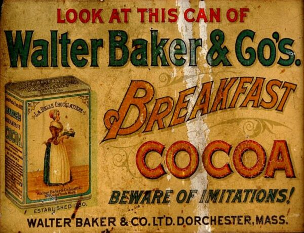 TIN SIGN quot;Walter Baker Cocoaquot; Chocolate Deco Garage Wall Decor $7.35