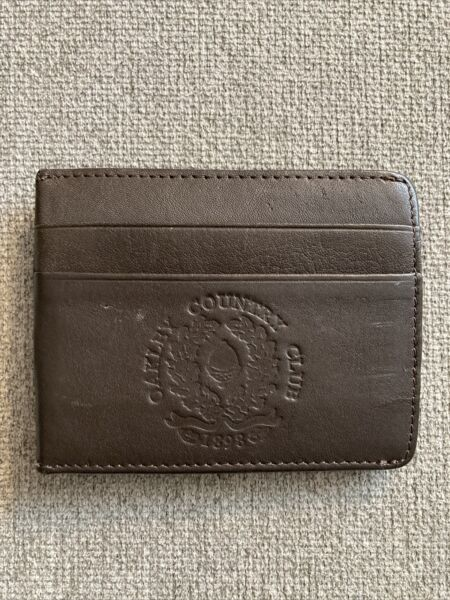 Mens Oakley Country Club Mini Wallet Money Clip Brown Leather $28.00