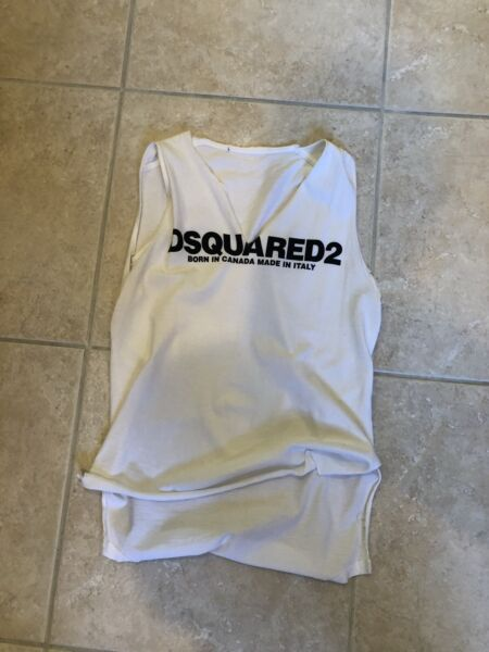 Shredded Dsquared Shirt Med Cotton $39.00