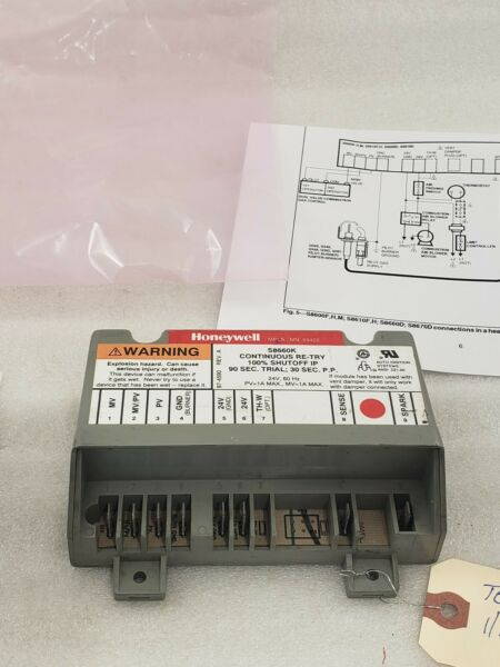 Lennox Armstrong Furnace Honeywell S8600K S8660K1006 9412 Ignition Module Tested $32.00