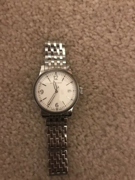 burberry watch women Silver Only Wore A Few Times Comes With Links And Box $65.00