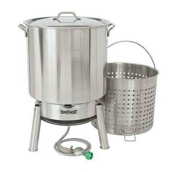 Bayou Classic Boiler Cooker Fryer Kit Stainless Steel Manual Ignition 82 Qt. $260.57