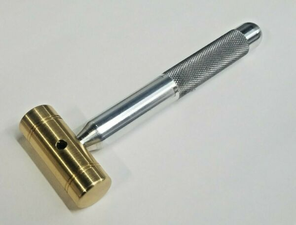 4 OZ. SMALL BRASS HAMMER KNURLED 5 8quot; ALUMINUM HANDLE * EXCELLENT GRIP USA MADE