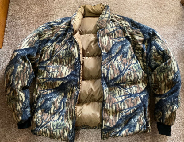 Original Vintage Browning Mossy Oak Bottomland Goose Down Jacket EUC Medium