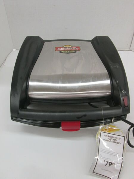 JOHNSONVILLE ELECTRIC SIZZLING SAUSAGE GRILL STAINLESS STEEL BLACK VVV 608