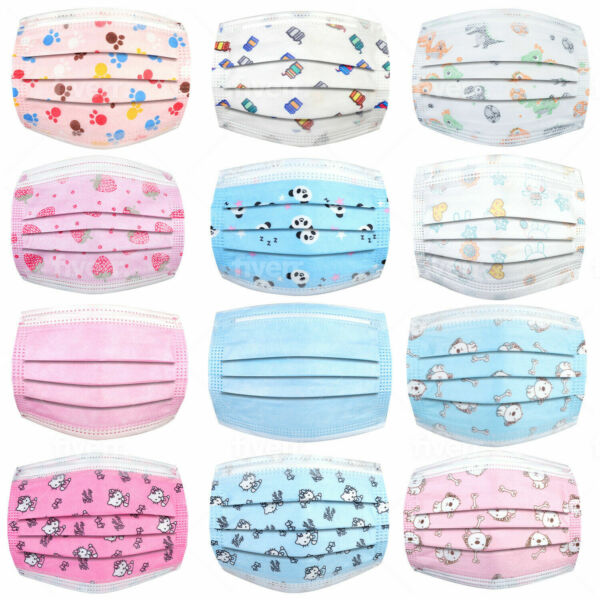 Face Masks for Kids Disposable3 Ply Face Mask Non WovenBreathable amp; disposable