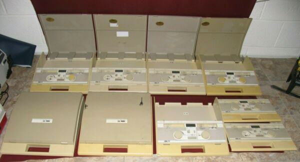 GRASON STADLER WELCH ALLYN GSI 17 AUDIOMETERS QTY OF 7 WITH EXTRAS