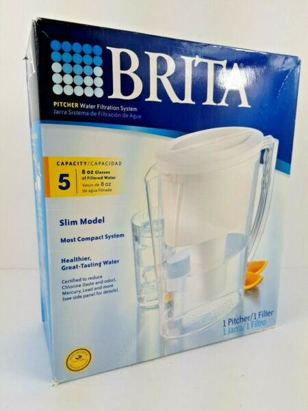 NEW Brita Pitcher Water Filtration System 5 Cup Slim Model
