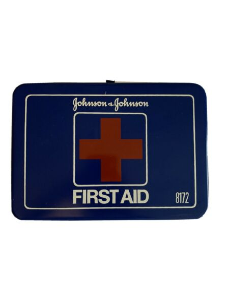 Vintage Johnson amp; Johnson First Aid Kit tin