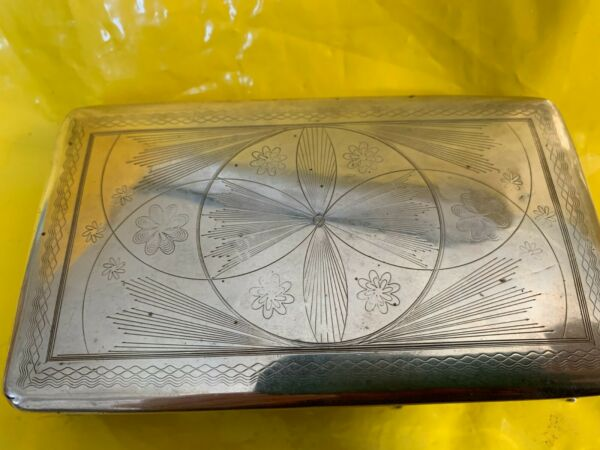 GORGEOUS STERLING SILVER ORNATE LARGE BOX NETHERLANDS 153 grams