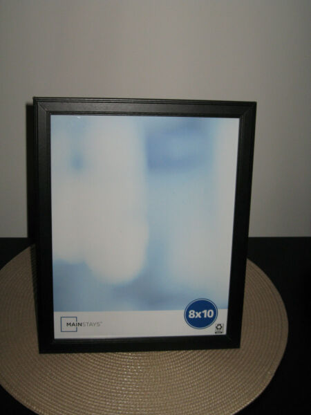 Classic Wood 8quot; x 10quot; Black Picture Frame Freestanding or Wall Mount Vert Horz $10.99