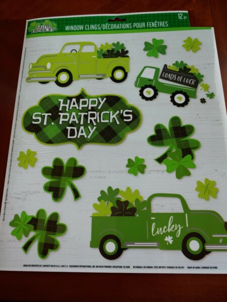 St Patty#x27;s Day Vintage DIY Truck Window Clings quot;St. Patrick#x27;s#x27;s Dayquot; $7.50