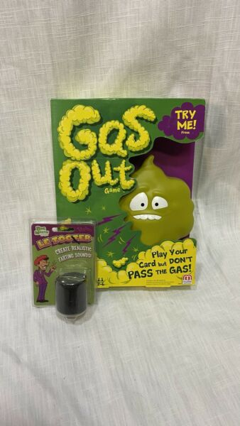 💥Mattel GAS OUT GAME Green BRAND NEW Plus FREE LE TOOTER $12.00