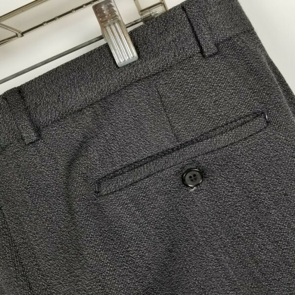 BALLIN Nordstrom Mens Charcoal Gray Pleated Winter Suit Dress Pants Size 34x30