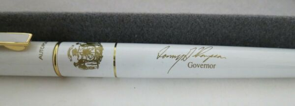 Vintage White Autopoint Ballpoint Pen with Governor Tommy Thompson signature $25.00