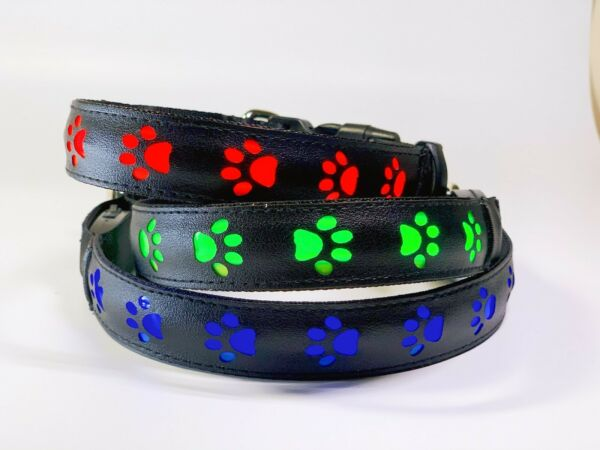 LED Dog Safety Collar USB Rechargeable Bright Light Up Waterproof for Walks NEW $10.99