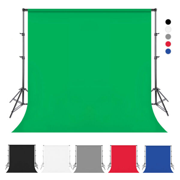 Photography Backdrop Screen Studio Photo Muslin PP Background 5x10ft 6.6x10ft