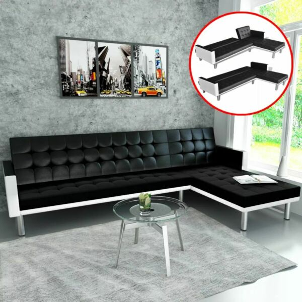 Luxury Leather Sofa Bed 3 Seater Couch Recliner Home Living Room Furniture Set $502.30