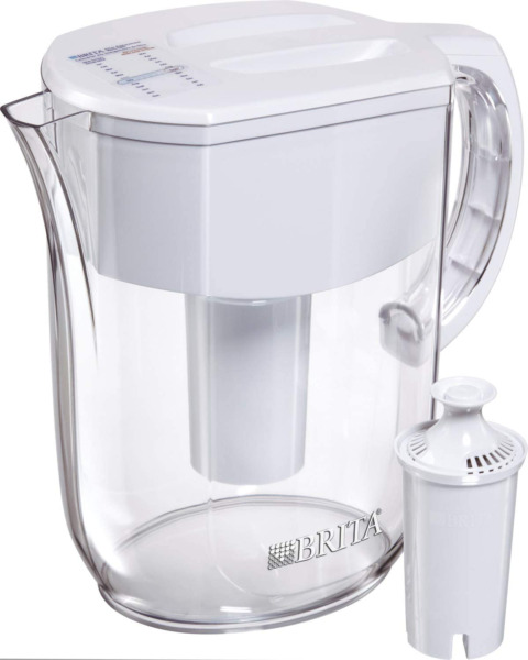 Brita 10 Cup Everyday Water Pitcher With 1 Filter Bpa Free White