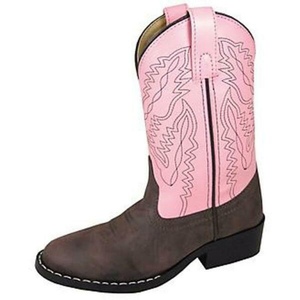 Smoky Mountain Kids Monterey Cowboy Boots Brown amp; Pink #1574 Child amp; Youth Sizes $36.95