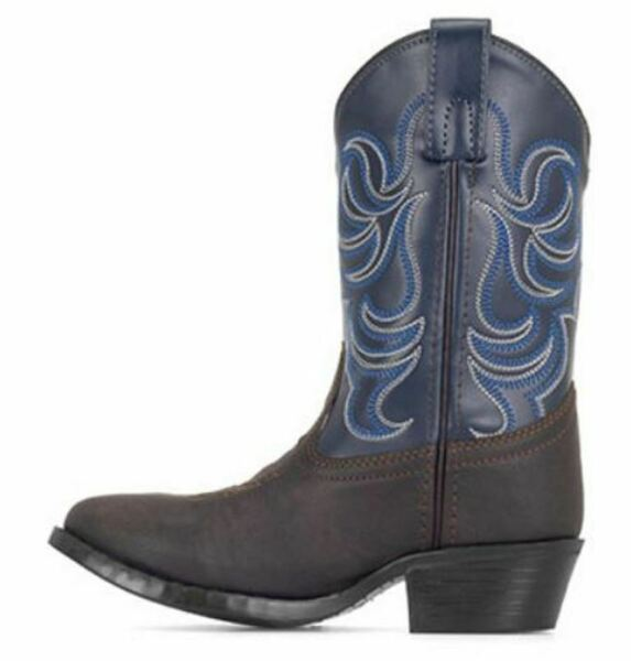 Smoky Mountain Kids Monterey Cowboy Boots Brown amp; Navy #1759 Child amp; Youth Sizes $36.95