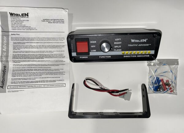 Whelen Traffic Advisor TACTLD1 Controller Open box New never used all parts