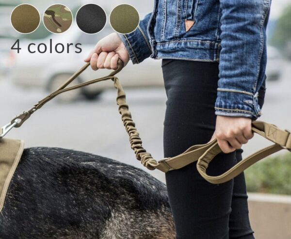 Retractable nylon rope Dog Leash Tactical K9 for large dog Heavy duty coupler US $10.98