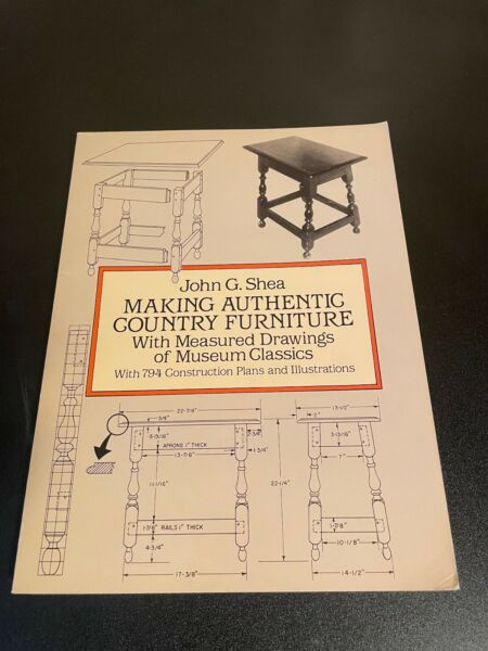 Dover Woodworking Ser.: Making Authentic Country Furniture : With Measured Drawi $8.50