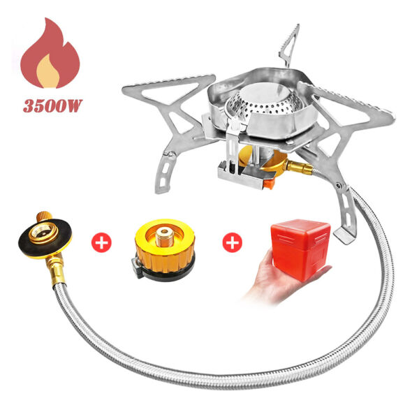 Hiking Camping Gas Stove 3500W Portable Folding Mini Windproof Backpacking Stove