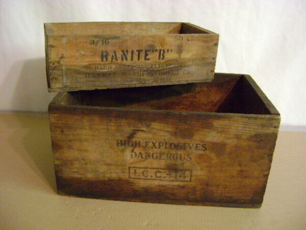 West Coast Powder Co. Explosives Dovetail Vintage Wood Box Crate amp; Ranite box