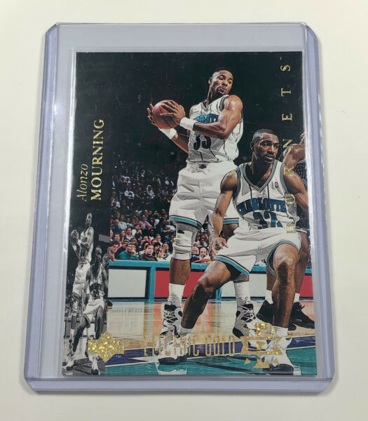 1993 Upper Deck SE Alonzo Mourning Electric Gold #145 HOF Rare 1:36 Odds $39.99